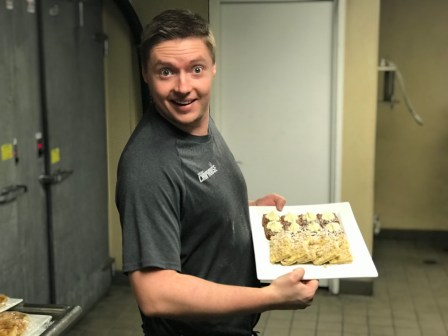 Chef Ian offering great desserts