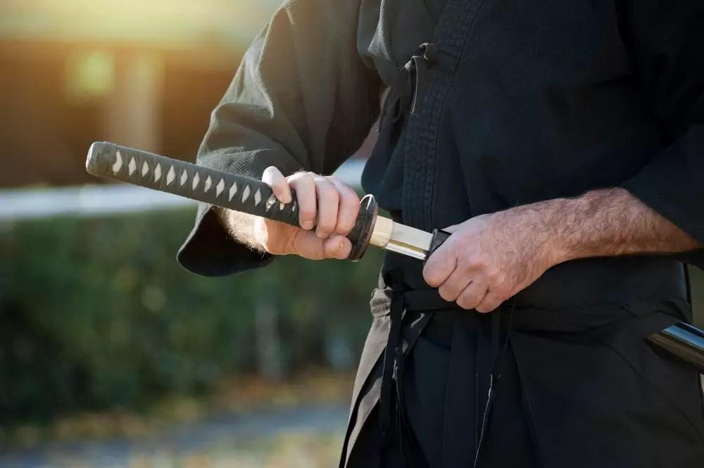 Samuraj podczas wyjazdu integracyjnego w Japonii