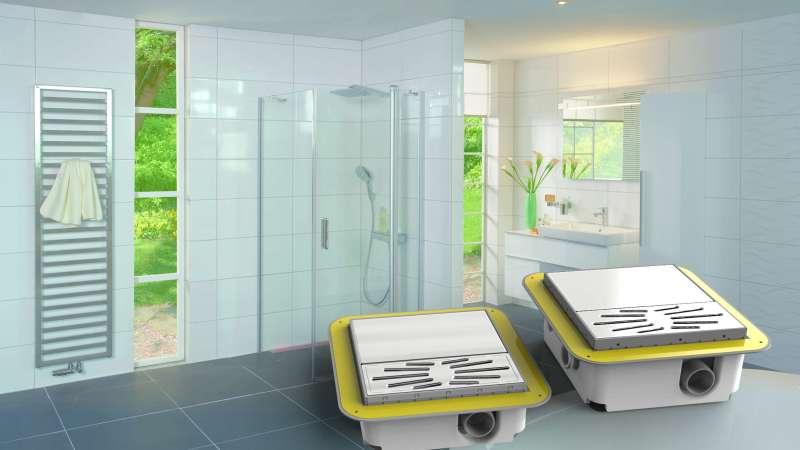 Bodengleiche Dusche für alle Gefälle