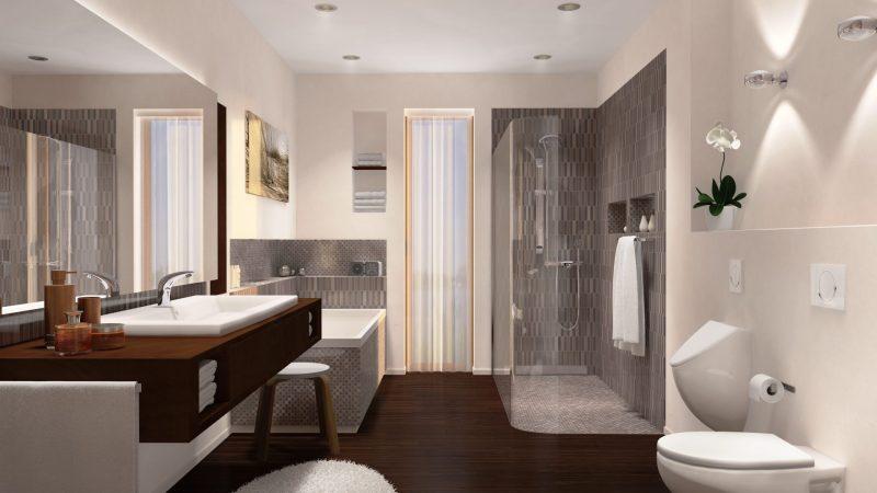 Moderne Sanitär-Technologie zum Durchatmen im Bad