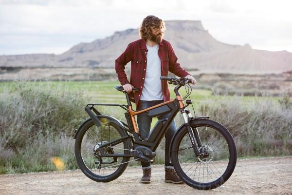 E-Bike und Fahrer