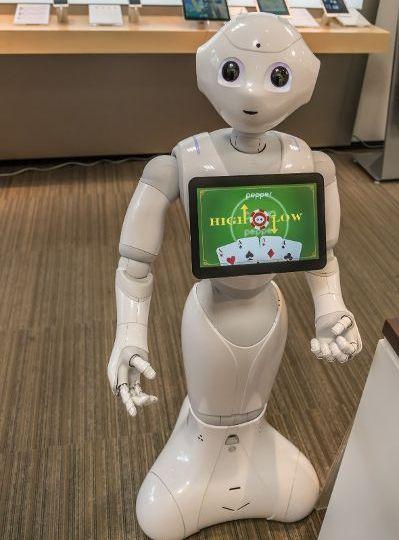 Roboter und Technik gegenüber aufgeschlossen.