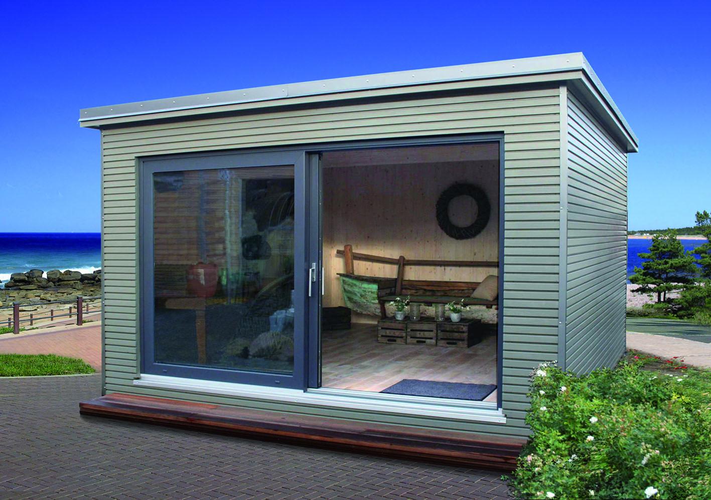 Das Gartenhaus wird zum Designobjekt