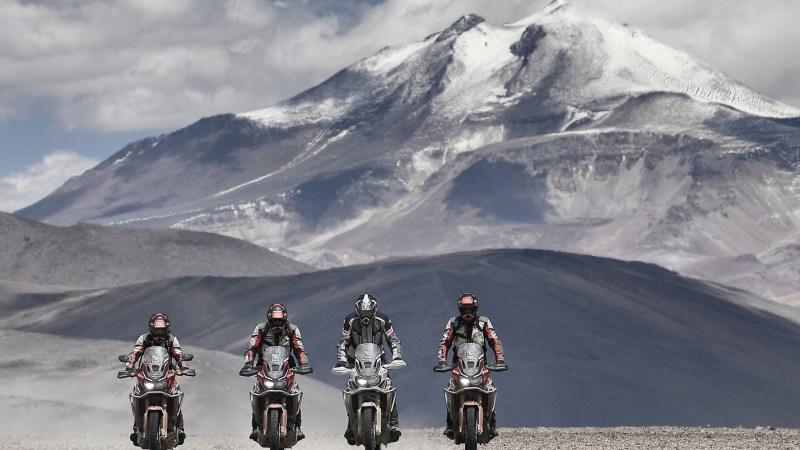 Mit dem Motorrad auf Höhenrekord