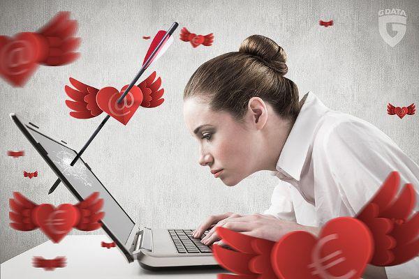 Liebesgrüße aus dem Netz führen oft zu Schadcode-Webseiten