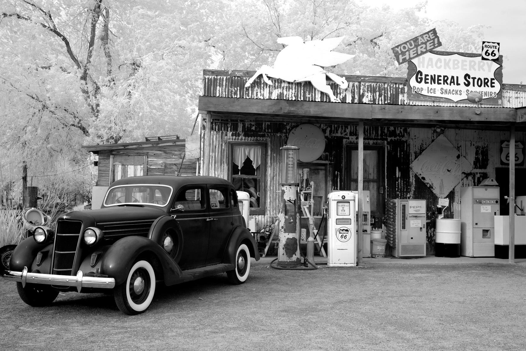 Als sich die Tankstelle 1968 zum Lebensmittel-Laden verwandelte