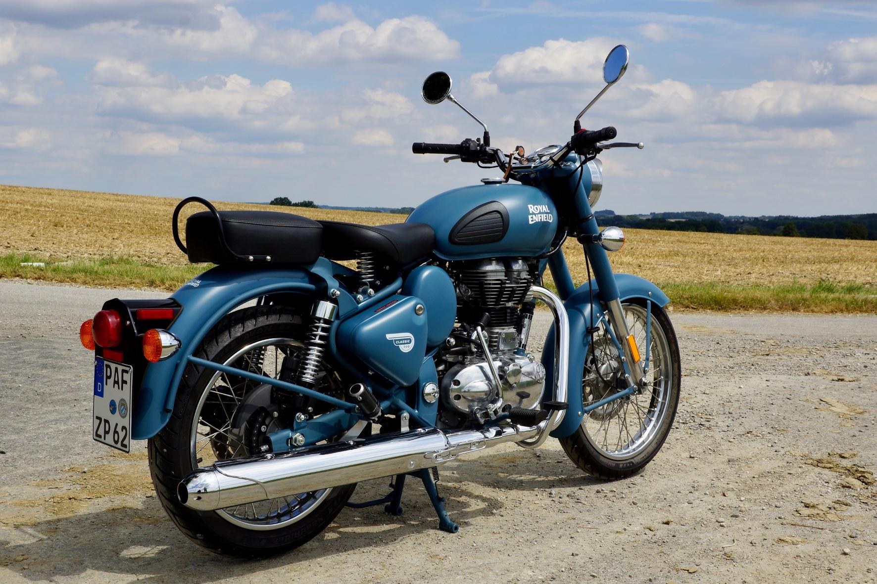 Restauriertes Einzylinder Oldtimer-Bike