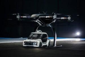 Das neuartige Flugtaxi-Konzept kombiniert ein selbstfahrendes Elektroauto mit einer Passagierdrohn