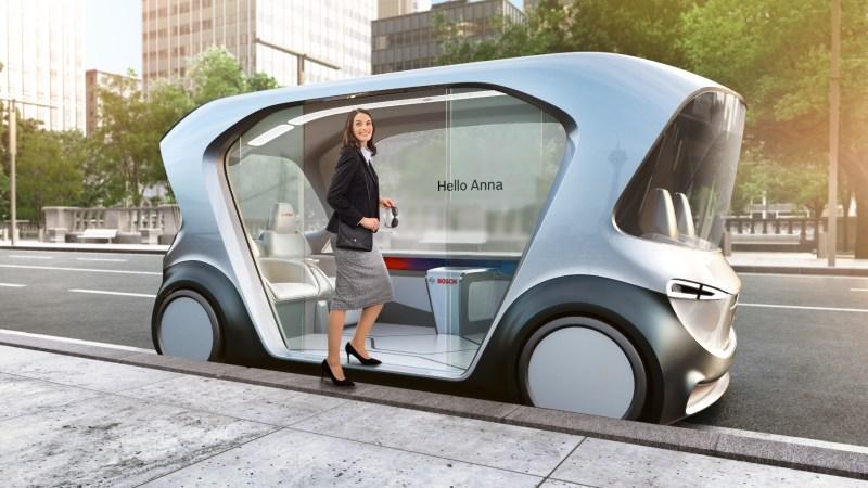 Das Konzeptfahrzeug war in Las Vegas zu sehen und soll zeigen, wohin die Reise gehen soll. © Bosch / TRD mobil