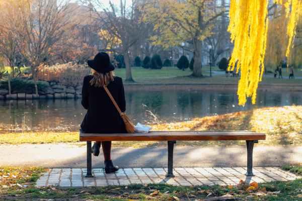 Herbstlaub und die Nachbarschaft