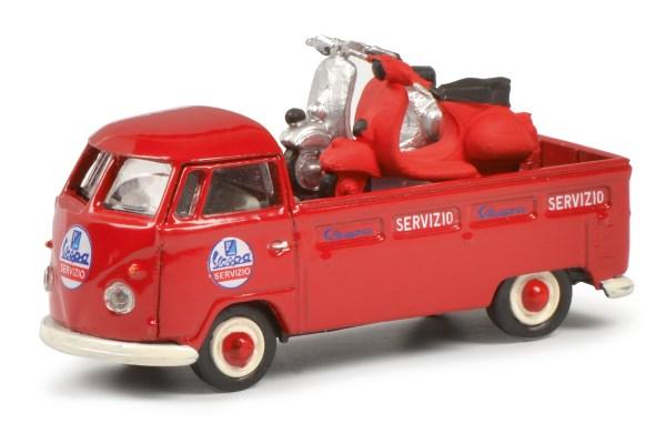 """Sieger in der Kategorie """"Sammeln 1:87 Nutzfahrzeuge"""": der VW T1 Pritsche """"Servizio Vespa"""" von Schuco für 17,95 Euro. © Modell Fahrzeug / TRD mobil"""