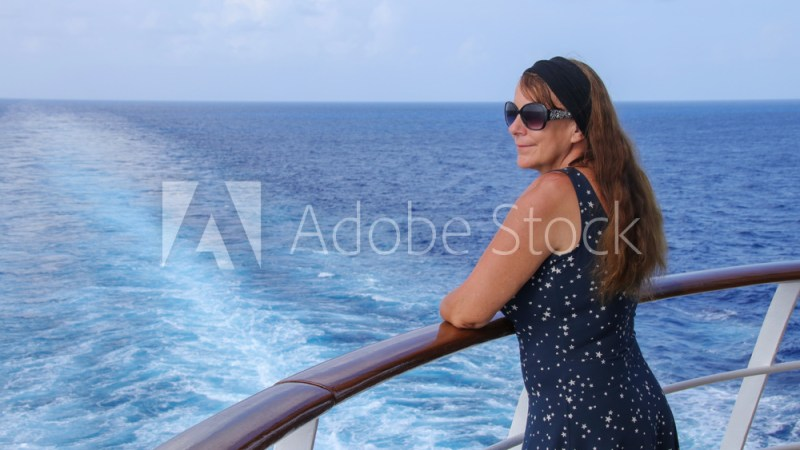 Carribean cruise, woman