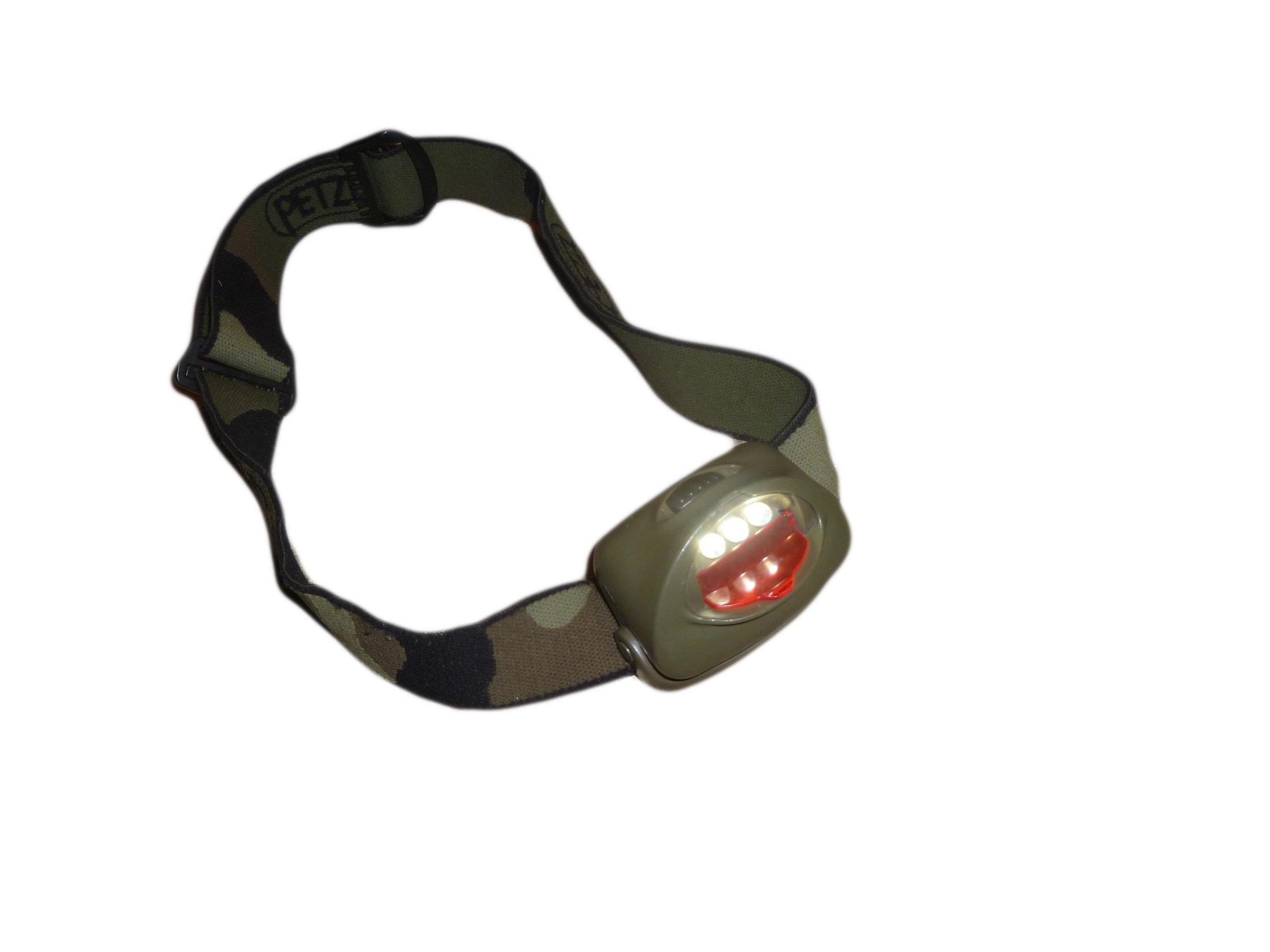 Exemple d'éclairage sans filtre de la Petzl Tactikka Camo