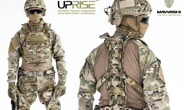 Eurosatory 2018 : Exosquelette non-motorisé UPRISE de Mawashi