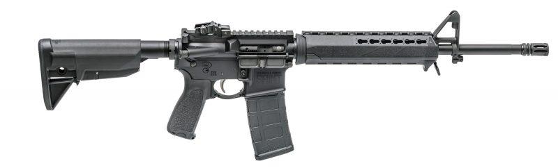 AR15 Springfield Armory avec garde-main Keymod en deux parties pour montage d'un GL 37 ou 40mm (image SA).