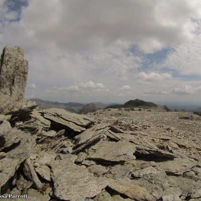 The terrain here was larger rocks, we had to carefully step from one to another to cross.