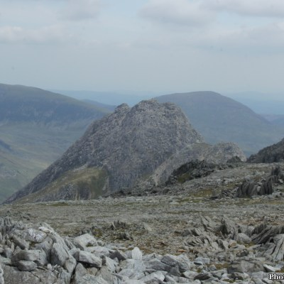 ...the jagged fin of Tryfan to North