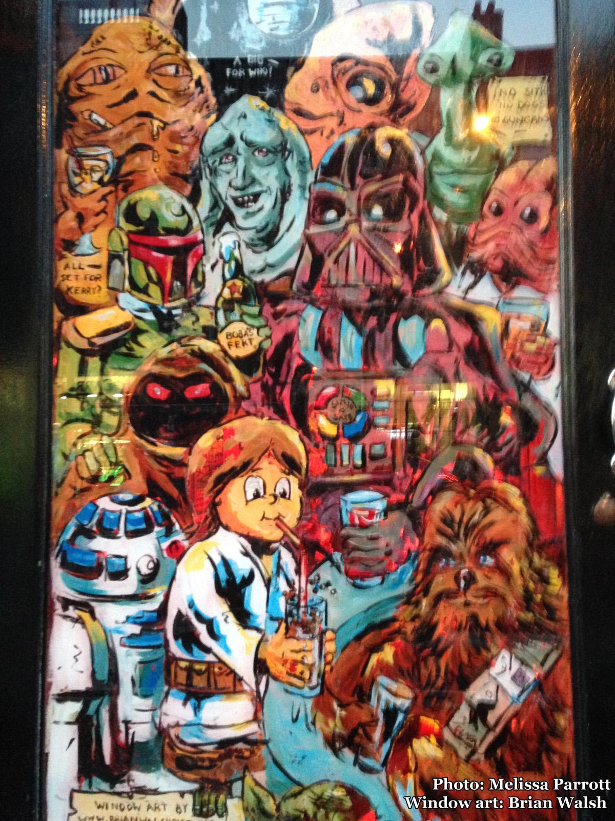 Star Wars window art at Cassidy's