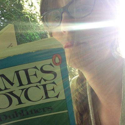 Reading James Joyce in Phoenix Park