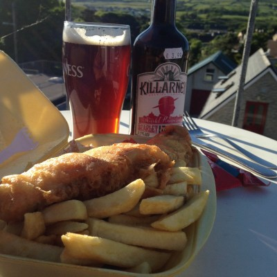 Fish & Chips Dinner and Kerry brew