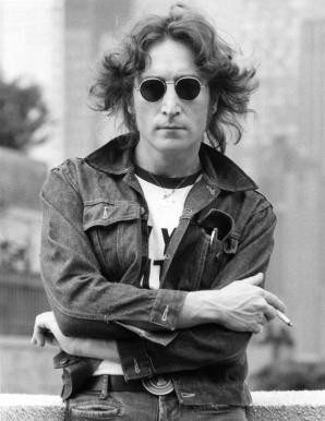John Lennon on rooftop wearing a denim jacket in NYC. August 28, 1974. © Bob Gruen / www.bobgruen.com Please contact Bob Gruen's studio to purchase a print or license this photo. email: websitemail01@aol.com phone: 212-691-0391