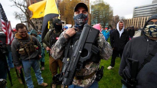 Лансинг на државните демонстранти