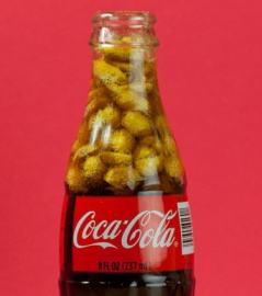 Coke and peanuts