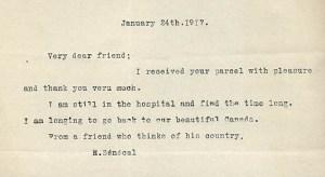 Lives of World War I in letters