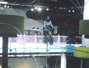 Me on a high-wire bike showing I learned to adventure