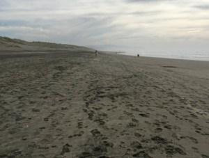 Leaving footprints on Ocean Beach