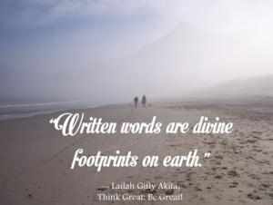 Leaving footprints behind - quote