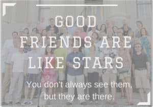 Reunions reveal good friends are like stars