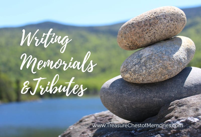 Writing Memorials and Tributes Graphic
