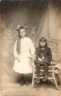Hazel and half brother Henry Savoy