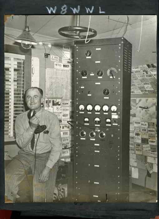 Ray Hedgecock with Ham Radio