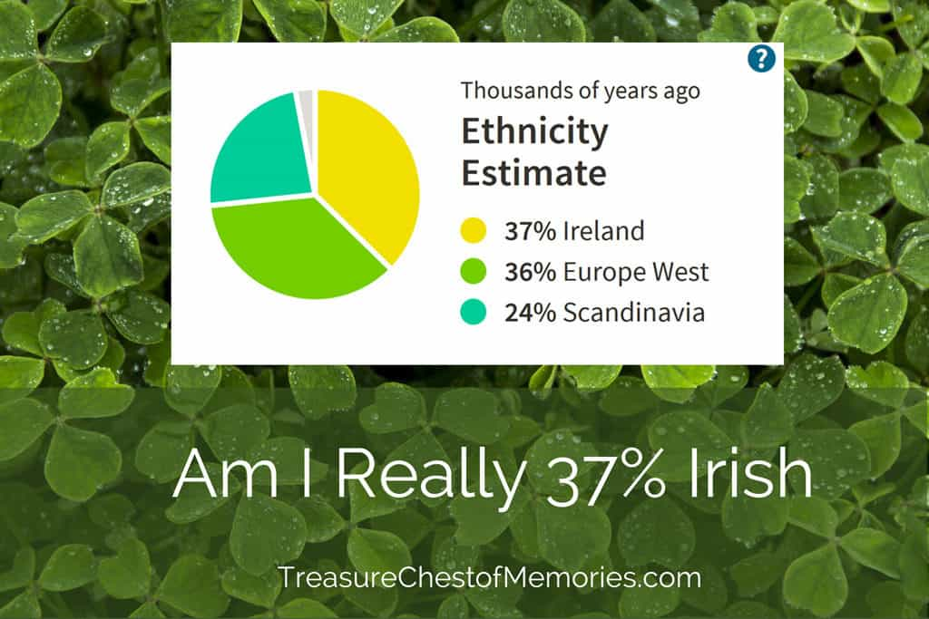 Am I really 37 percent Irish graphic with Ancestry estimate