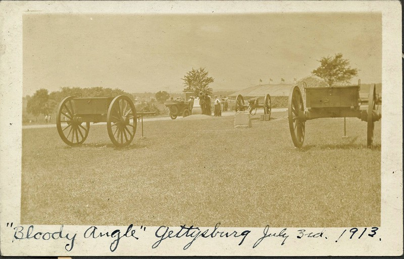 Photo of Bloody Angle from 1913 Gettysburg Reunion