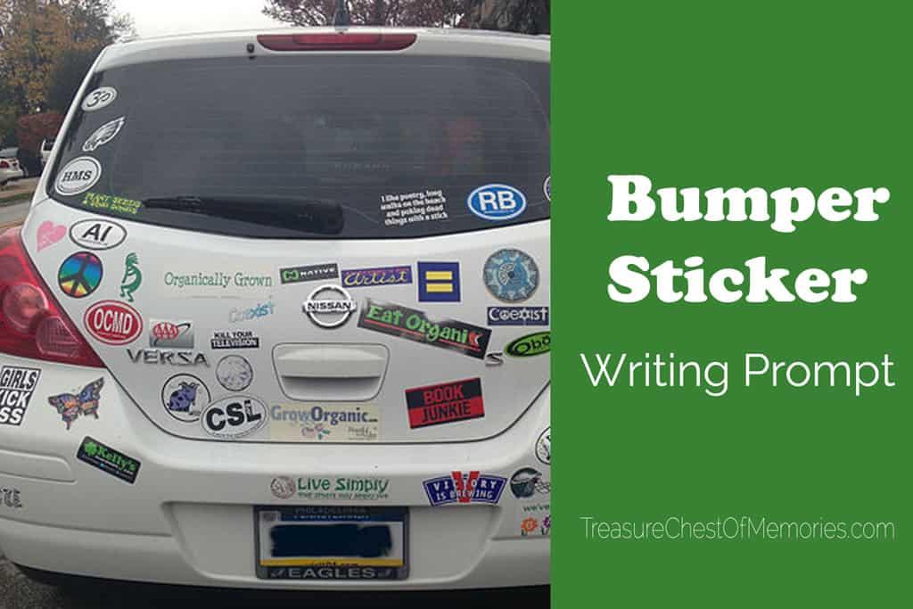 Bumper Sticker Writing prompt