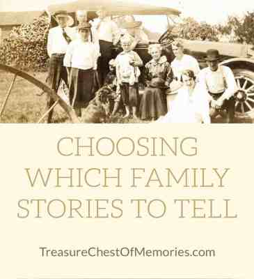 Choosing which family stories to Tell graphic