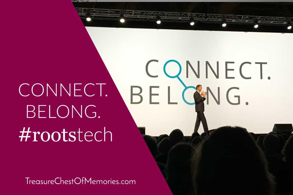 Steve Rockwood in front of Connect Belong Slide