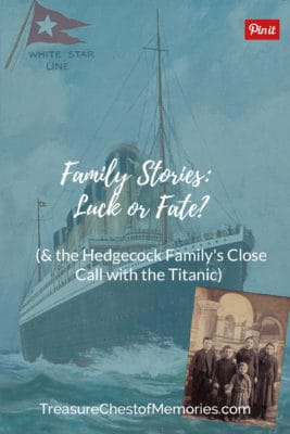 Family stories Luck or Fate