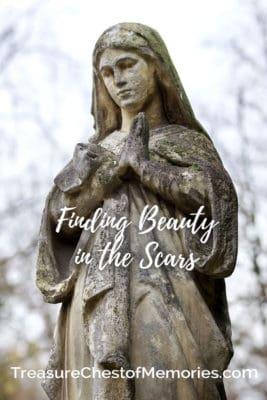 Finding Beauty in the Scars pinnable image