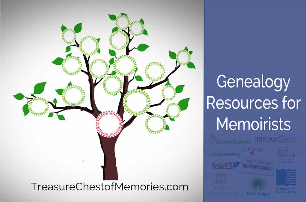 Genealogy Resources for Memoirists graphic