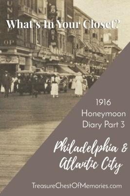 Honeymoon Diary Philadelphia Atlantic City Graphic