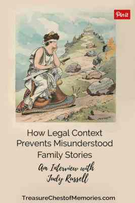 How Legal Context prevents misunderstood family stories Pinnable graphic