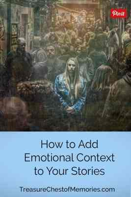 How to Add Emotional Context pinnable graphic with girl in crowd