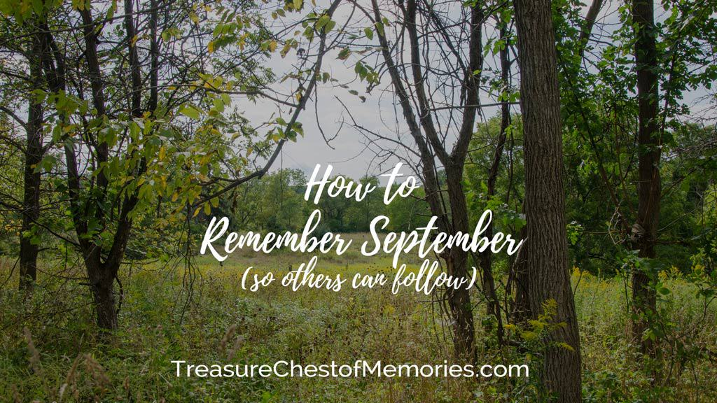 How to remember September cover image with a photo of a field in September
