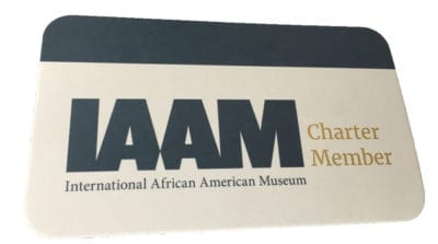 Charter Membership Card from the International African American Museum