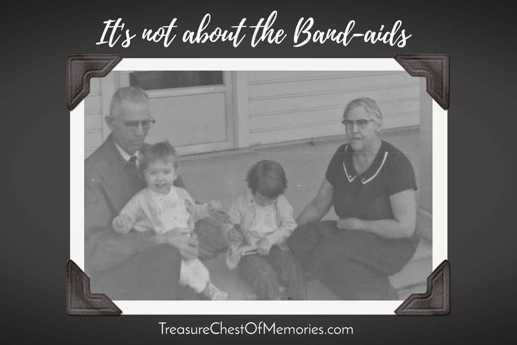 Photo of my grandparents, my sister and I