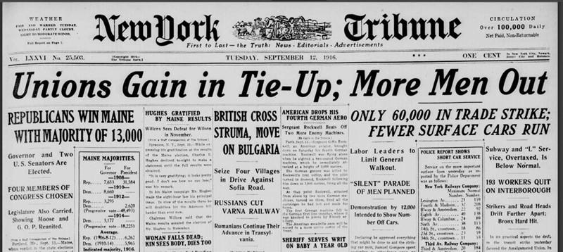 New York Tribune from Sept 12 1916